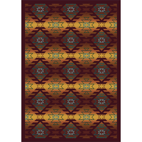 Joy Carpets Whimsy Canyon Ridge Orange Area Rug