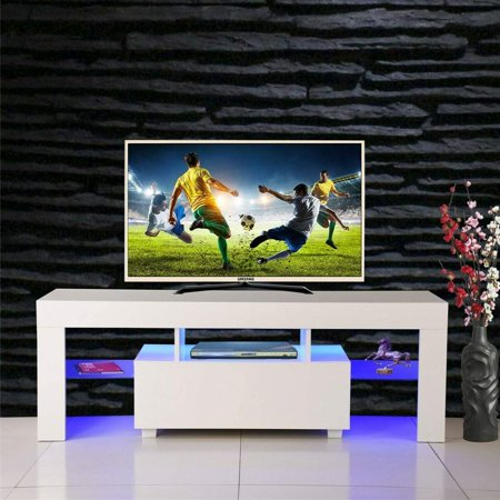 TV Entertainment Center,TV Stand Cabinet,Wine Cupboards TV Table TV Unit Gloss Cabinet with LED Light,Tea Rack Book Shelf Furniture for Living Room Bedroom (for 62