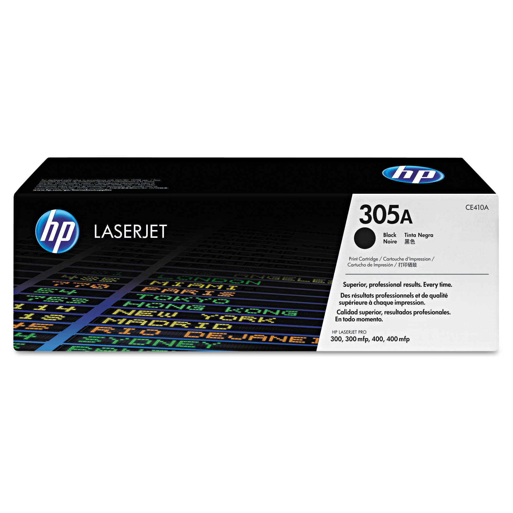 HP 305A, (CE410A) Black Original LaserJet Toner Cartridge -HEWCE410A