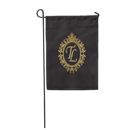 Nudecor Letter Tl Initial Luxury Monogram Abstract Antique Black
