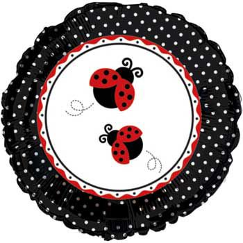 Ladybug Party Mylar Balloon - Party Supplies - Lady Bug Party