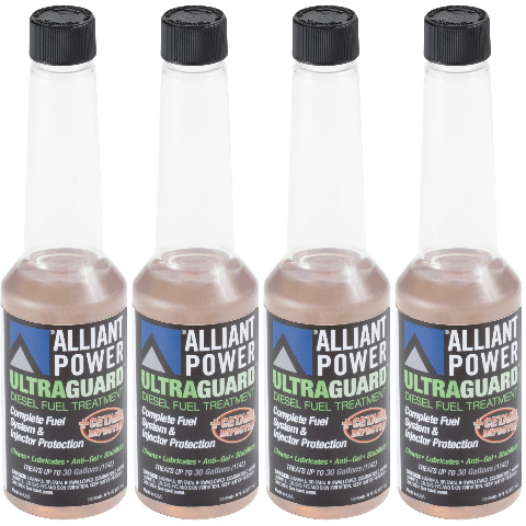 Alliant Power ULTRAGUARD Diesel Fuel Treatment -|4 Pack of 1/2 Pints | # AP0500