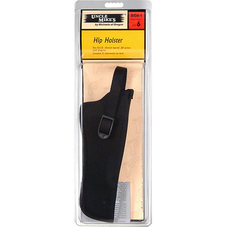 UNCLE MIKES SIDEKICK HIP HOLSTER NYLON BLACK 22 AUTO AND AIRGUN ()