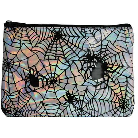 Adult Womens Iridescent Vinyl Spider Makeup Bag Halloween Costume - Halloween Spider Lady Makeup