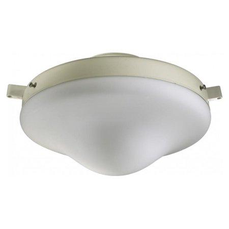 One Light Antique White Satin Opal Glass Fan Light -