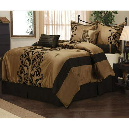 Helda 7 Piece Bedding Comforter Set Walmart Com