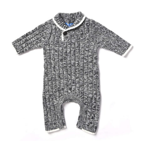 a433741dfd9e Kapital K - Newborn Baby Boy Sweater Coverall One Piece Outfit ...