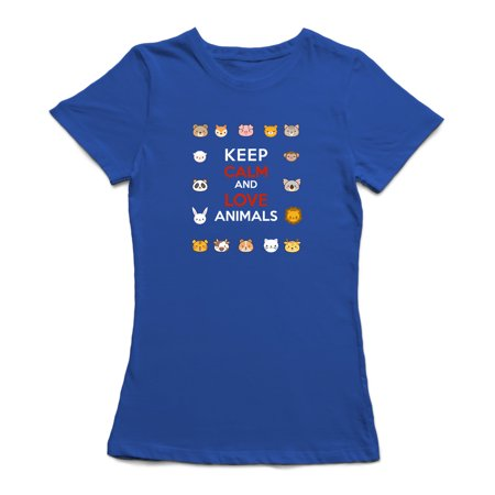 Keep Calm And Love Animals Women's T-shirt - image 1 of 1