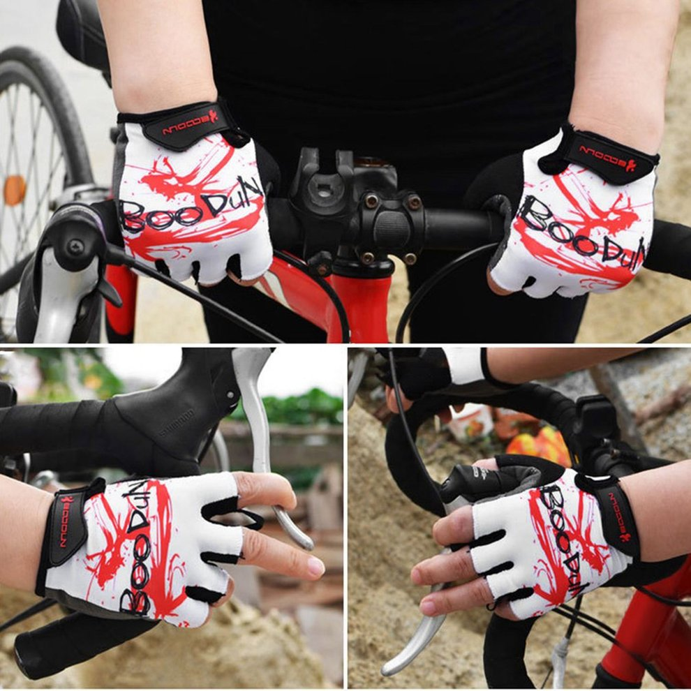 Boodun Outdoor Sport Motorcycle Racing Gloves Half Finger Low Wrist Hand Protective Breathable Riding Motorcycle Gloves