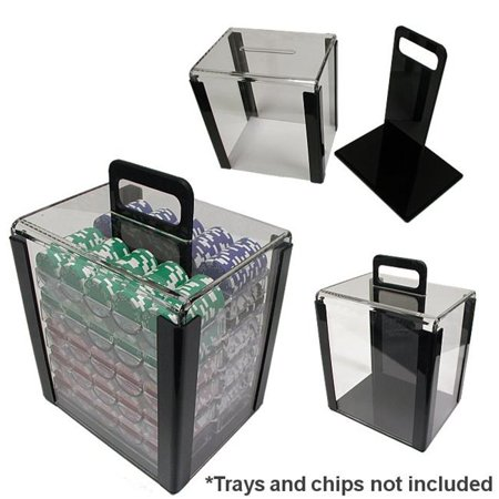 Trademark Poker 1000 Chip Capacity Clear Acrylic Carrier](Poker Chips Near Me)