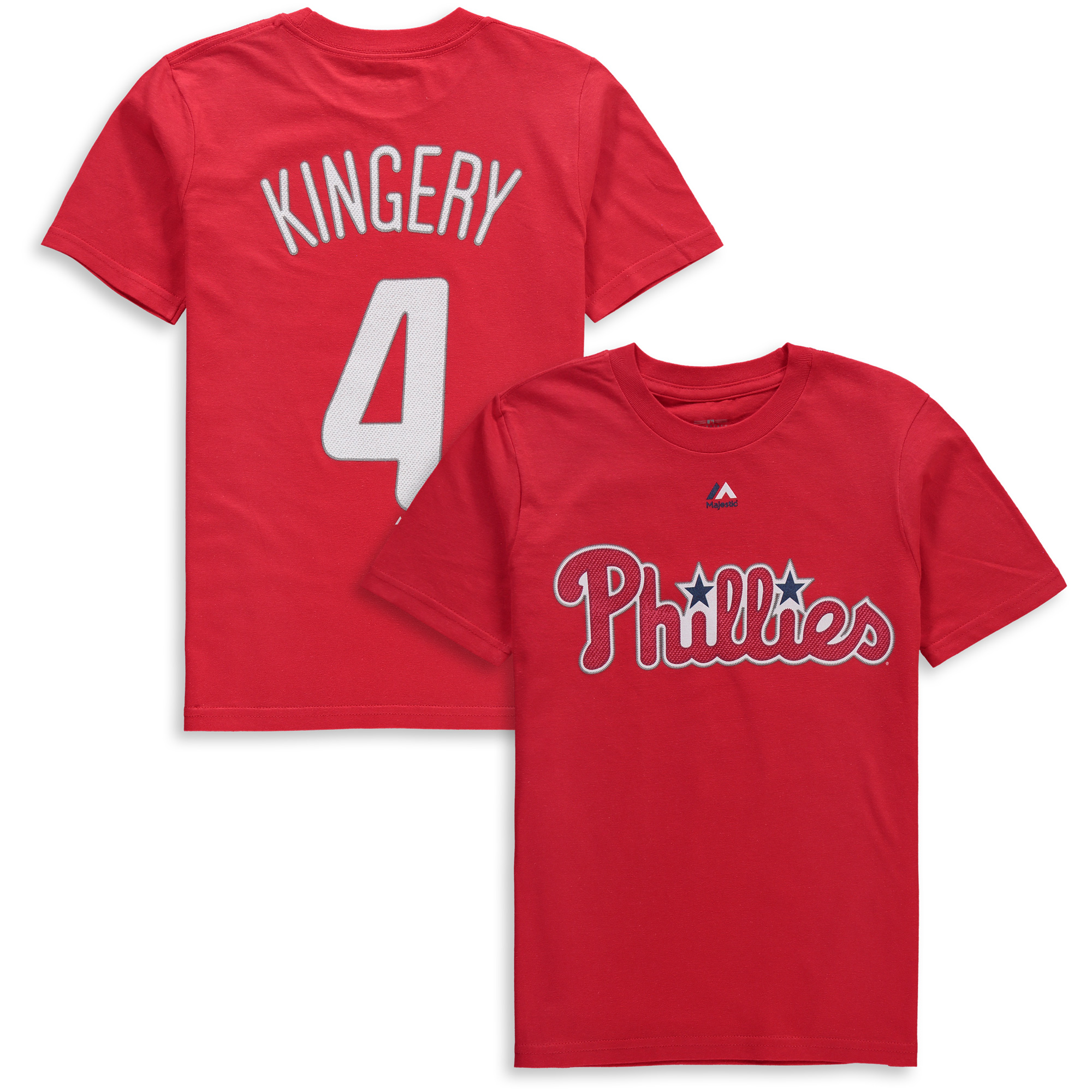 Scott Kingery Philadelphia Phillies Majestic Youth Player Name & Number T-Shirt - Red