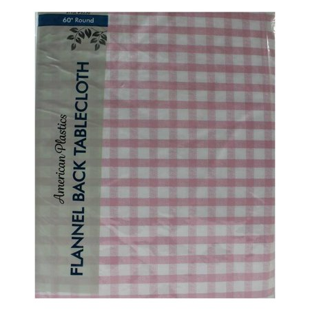Tablecloth 60 Quot Multi Colored Checkered Pink Round