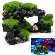 Aquarium Coral Récif Rock Fish Tank Ornament Cache Marine Cichlid Paysage Décor