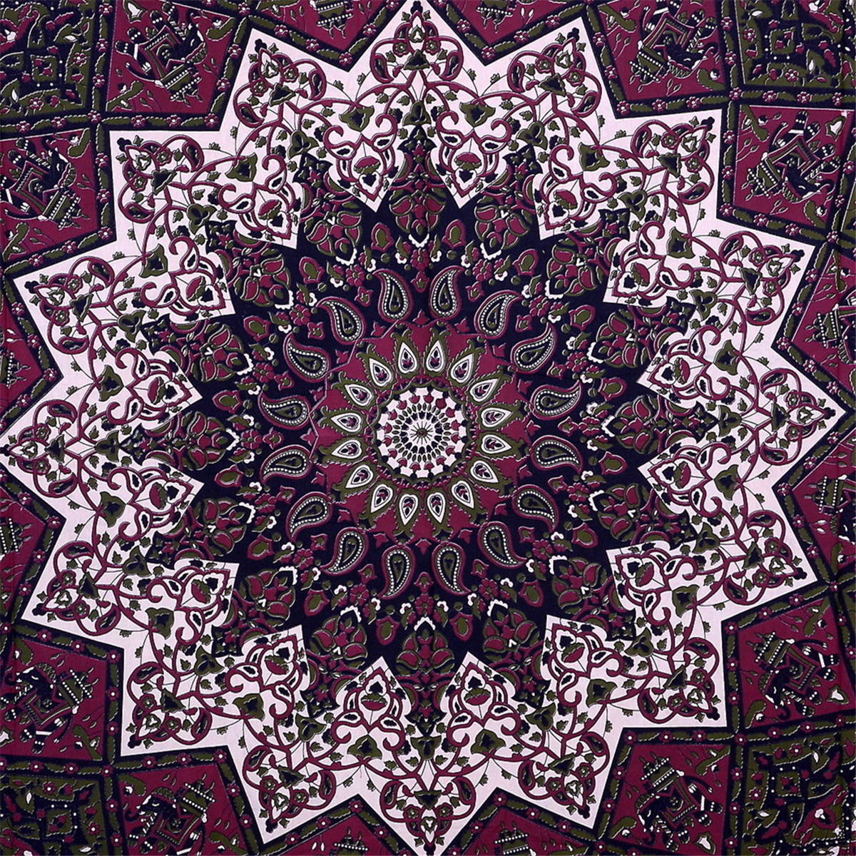 Indian Star Hippie Mandala Psychedelic Wall Tapestry Hanging Queen Throw Ethnic SPECIAL TODAY !