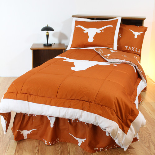 College Covers NCAA Texas Bed in a Bag Set