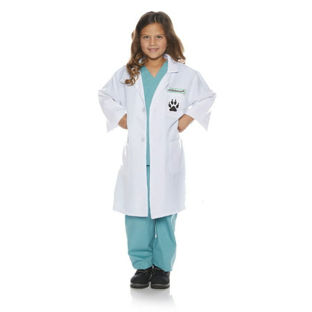Veterinarian Girls Child Pet Doctor Animal Physician Costume - Child Veterinarian Costume