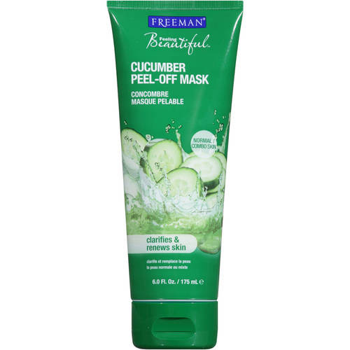 Freeman Feeling Beautiful Facial Peel-Off Mask Cucumber 0.50 oz (Pack of 3) Sensi Expert Eau Dermo-Micellaire Soothing Cleansing Water 6.7oz