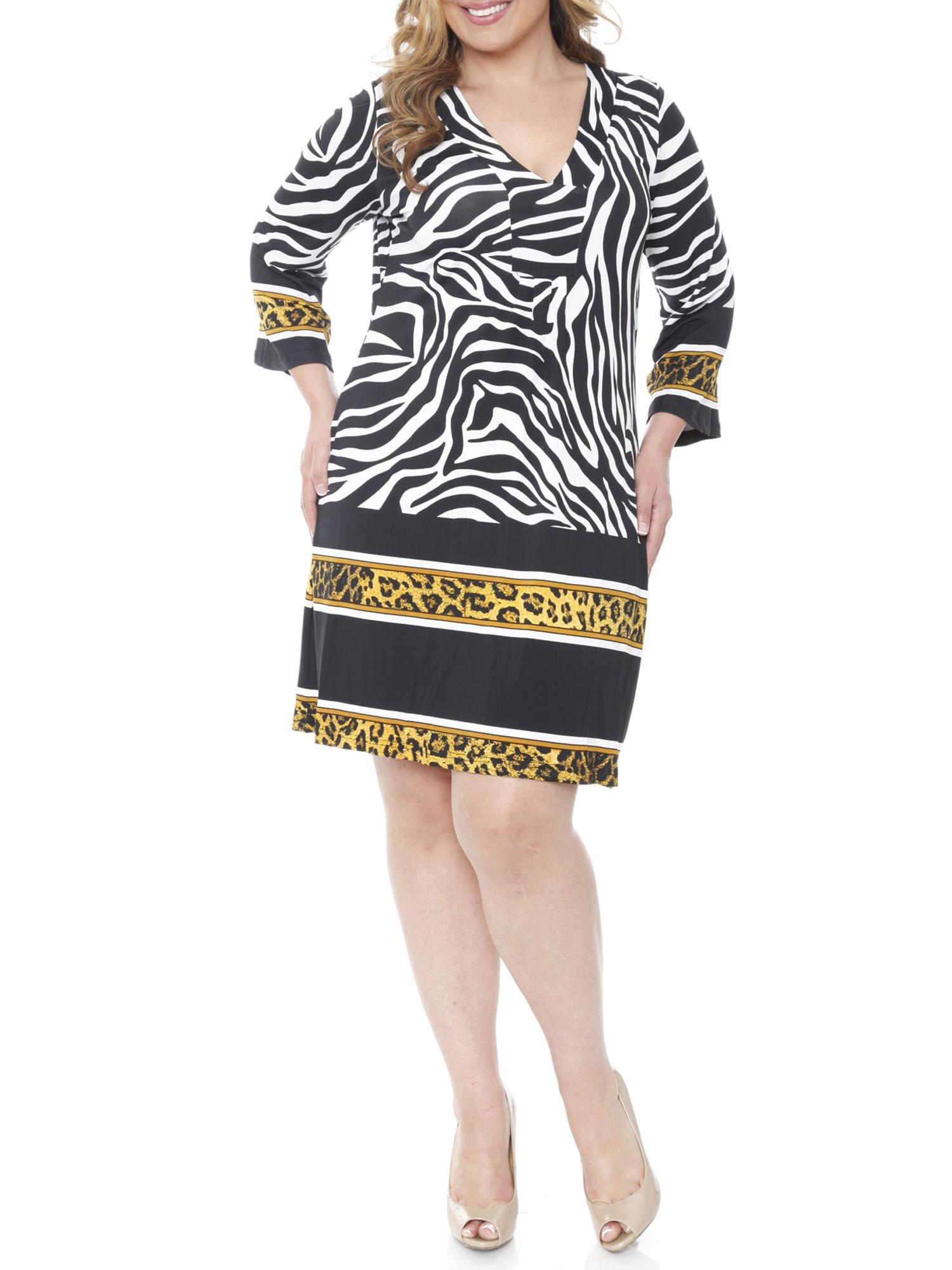 Women's Plus Size Madelyn Print Dress