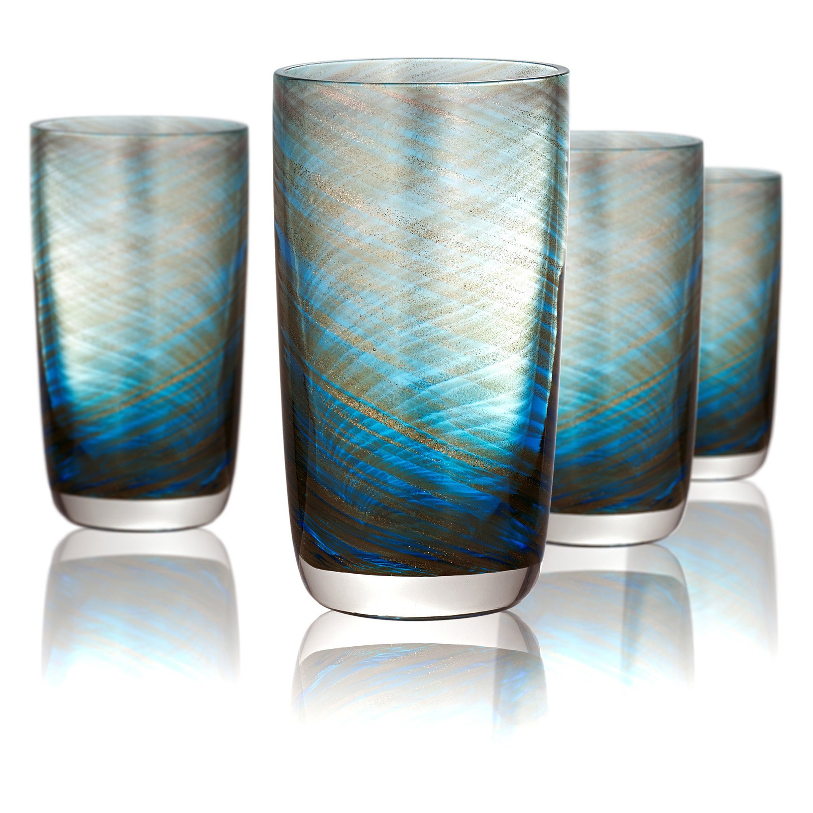 Click here to buy Artland Misty Highball Glasses Set of 4 by Artland.