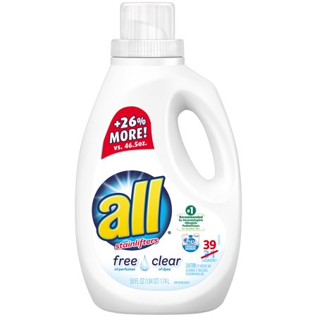 All  Free Clear Laundry Detergent 39 Loads 59 Fl  Oz  Bottle