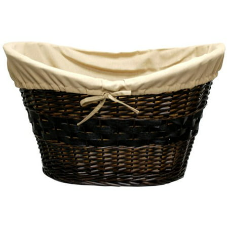 Mainstays Hand Woven Wicker Laundry Basket With Liner