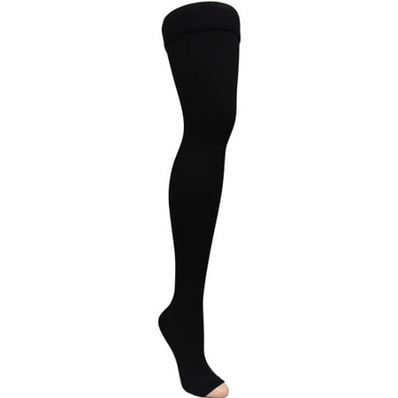 a5191cbbd0 ITA-MED Open Toe Thigh Highs - Compression Stockings (25-35 mmHg): H-306(O)  - Walmart.com