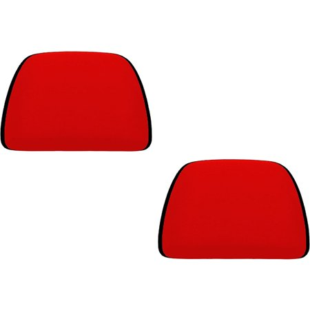 2 Piece Universal Fit (U.A.A. INC. Red 2 Piece Soft Polyester Universal Fit Head Rest Cover Car Truck SUV VAN)
