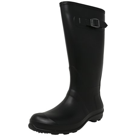 Kamik Women's Olivia Black Knee-High Rubber Rain Boot - 6M