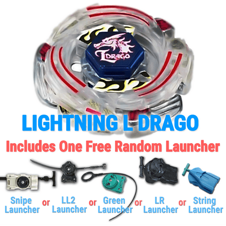 Gyro Lightning L-Drago BB-43 Metal 4D High Performance Generic Battling Top Game with Launcher Game Complete Set Game Toys from Metal Fury, Metal Fusion, Metal Masters Series