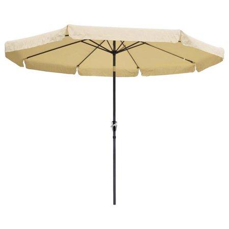 Tremendous 10 Ft Outdoor Furniture Patio Table Umbrella Tan Download Free Architecture Designs Grimeyleaguecom
