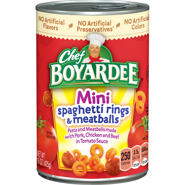 Chef Boyardee Mini Spaghetti Rings and Meatballs, 15 oz