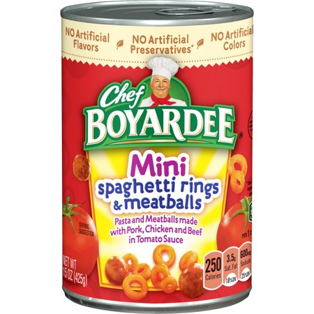 Chef Boyardee Mini Spaghetti Rings and Meatballs, 15 oz