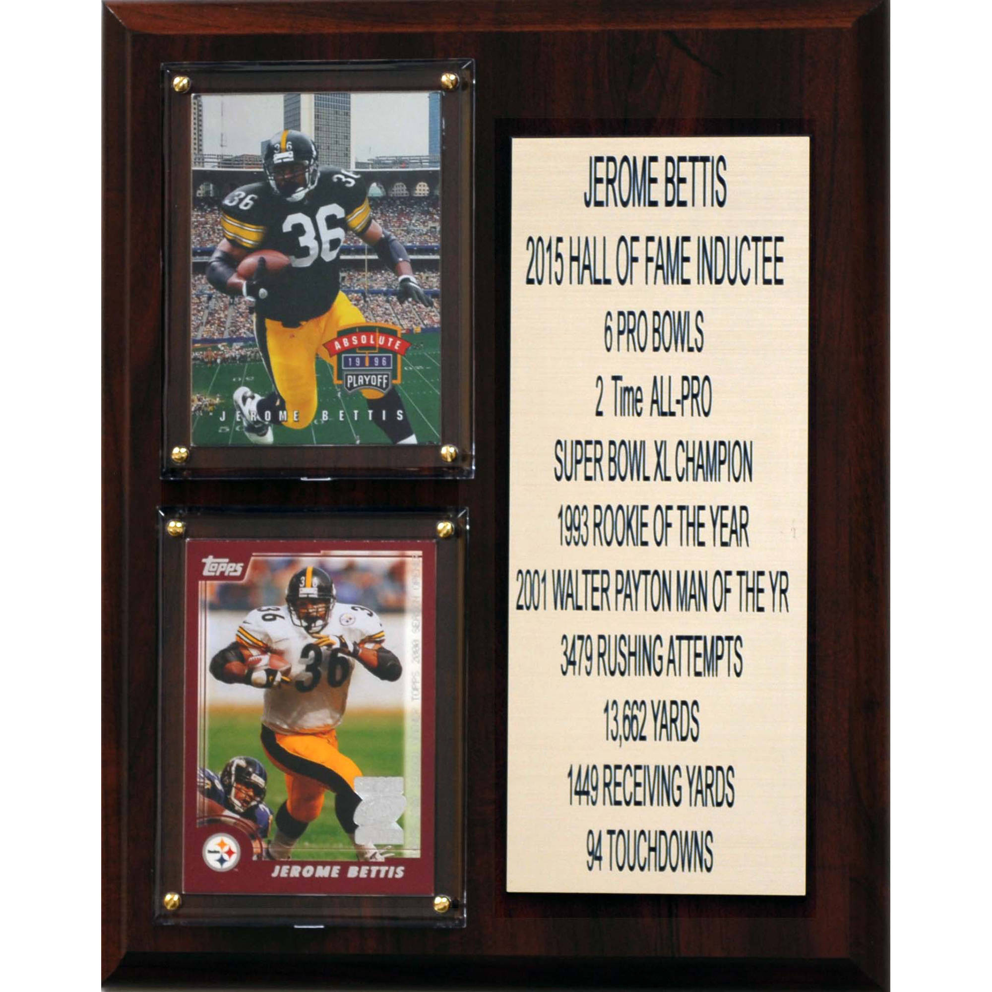C&I Collectables NFL 8x10 Jerome Bettis Pittsburgh Steelers Career Stat Plaque