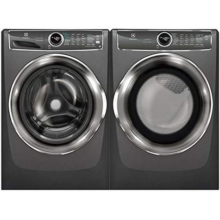 Electrolux Titanium Front Load Laundry Pair with EFLS627UTT 27