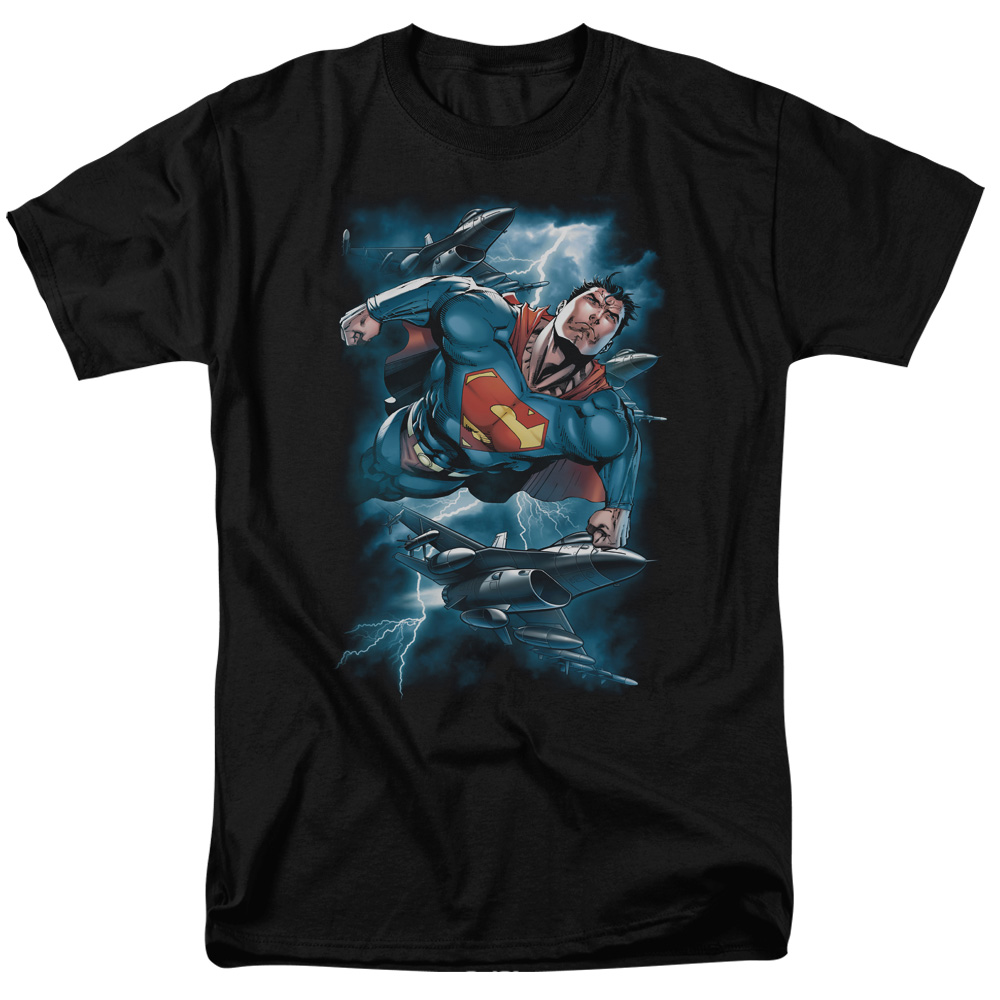 SUPERMAN/STORMY FLIGHT-S/S ADULT 18/1 - BLACK - 4X