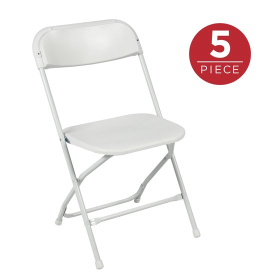 Best Choice Products 5 Pack Commercial White Plastic