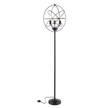 Southern Enterprises Lyzza Floor Lamp In Black With Copper Flecks