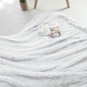 "Shaggy Faux Fur Blanket Ultra Soft Fiber Throw Blankets White 51"" x 59"""