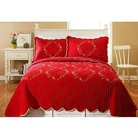 Red bedding sets get bedding sets - Better homes and gardens comforter sets ...