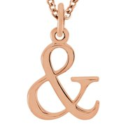 Fine Jewelry Vault UBPDS85780P14& Beautiful and Pendant in 14K Rose Gold with Free Chain