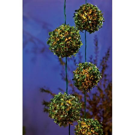 Living Accents 624GV11E Clear LED Topiary Ball Light Set, 7-1/2 ft. Long