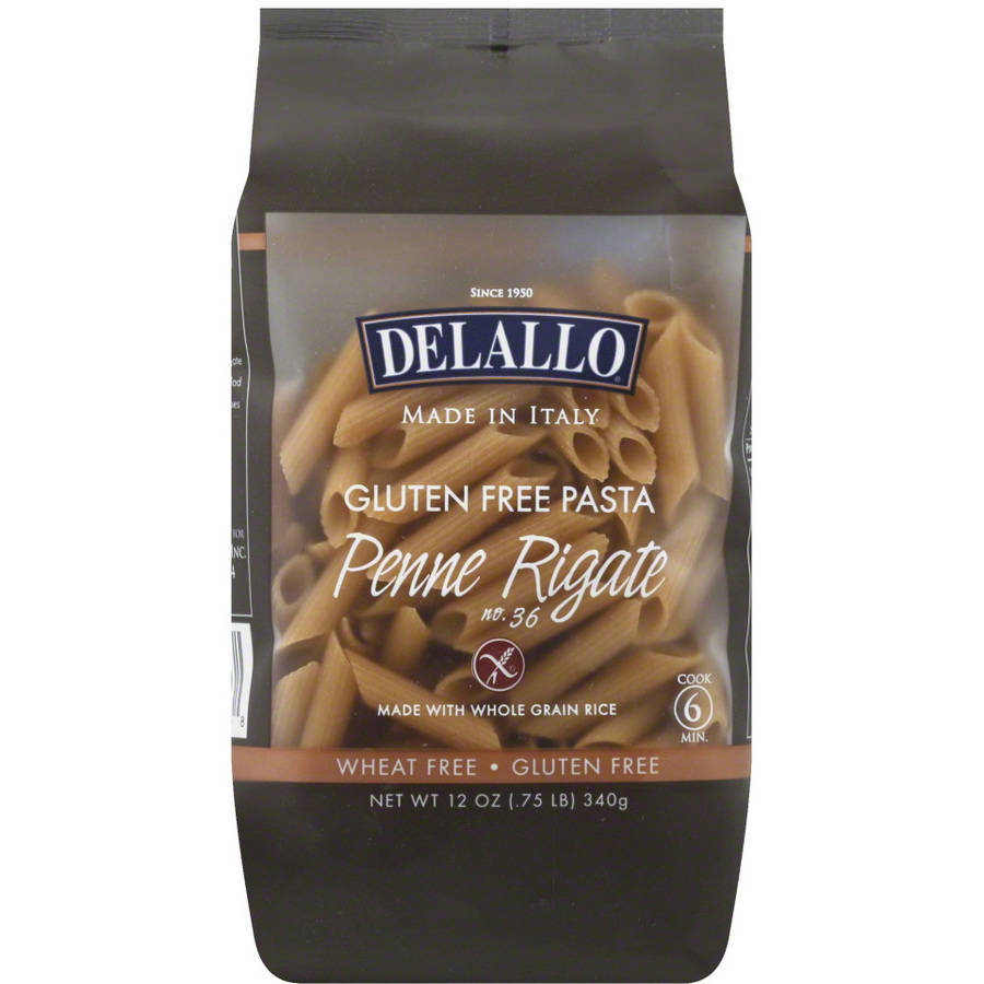 Delallo Gluten Free Whole Grain Penne Rigate Pasta, 12 oz, (Pack of 12)