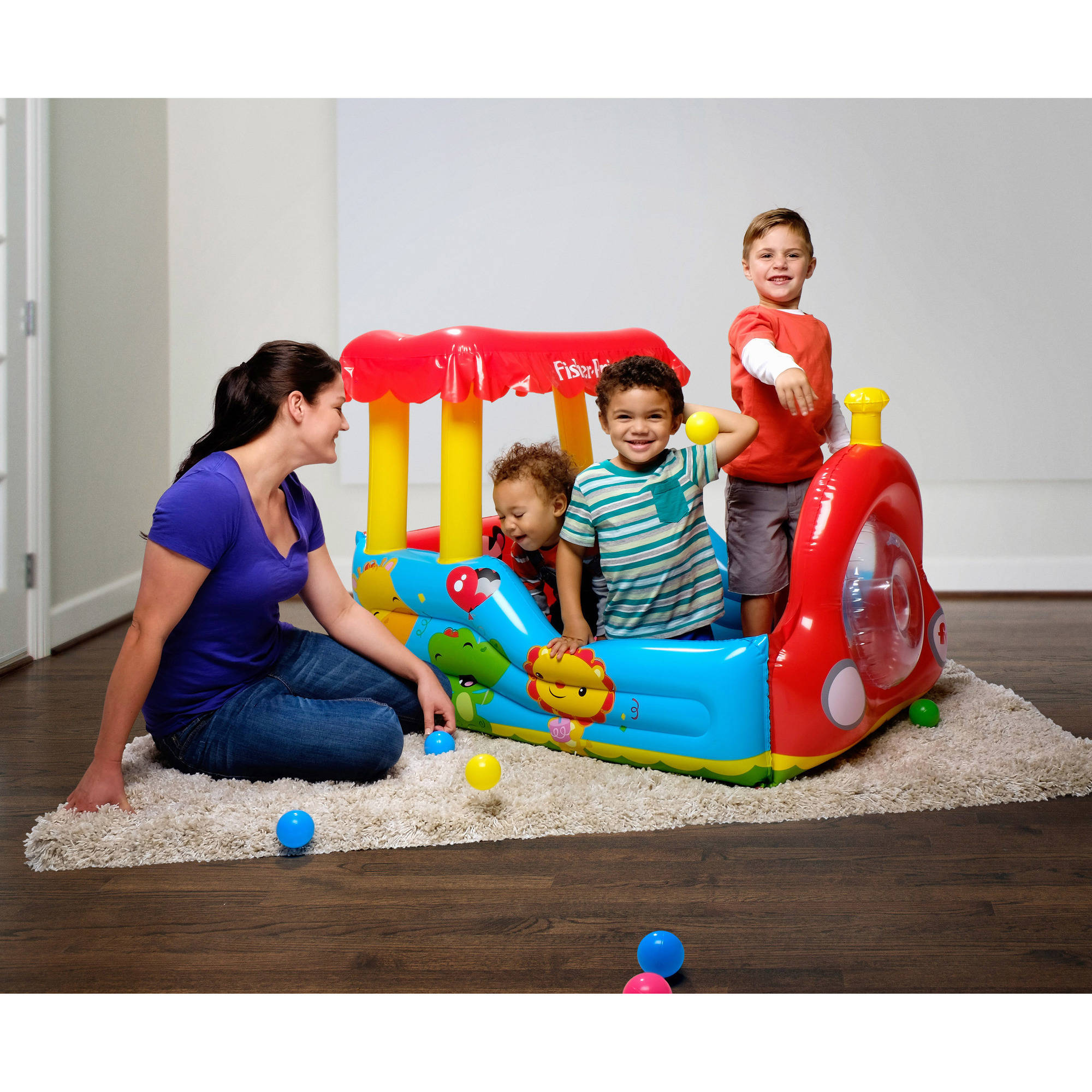 "Fisher-Price 52"" x 37"" x 35"" Train Ball Pit"