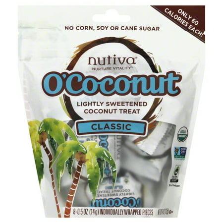 Nutiva O'Coconut Lightly Sweetened Organic, non-GMO Coconut Treat, Classic, (Vegan Sweetener)