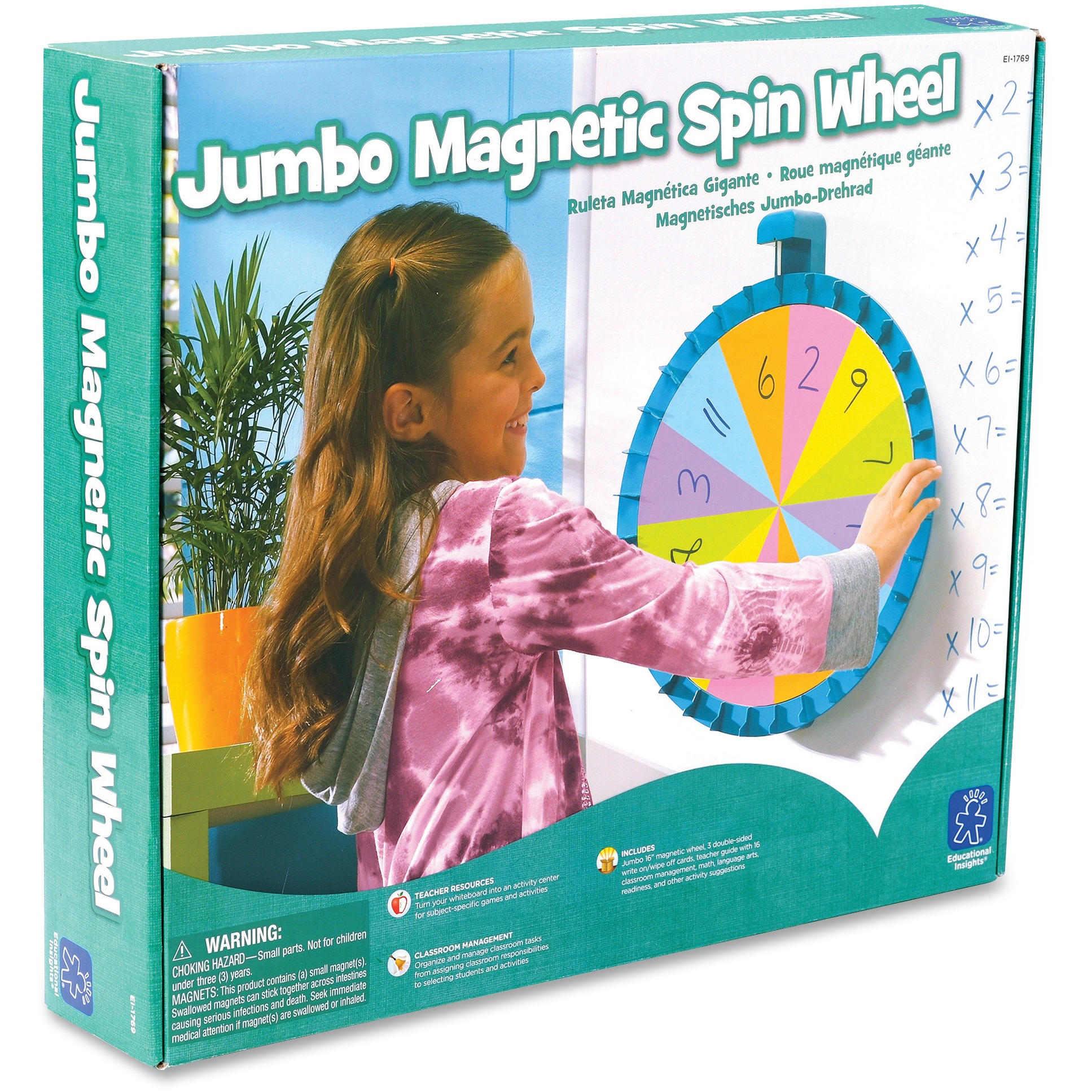Educational Insights, EII1769, Jumbo Magnetic Spin Wheel, 1 Each, Multi
