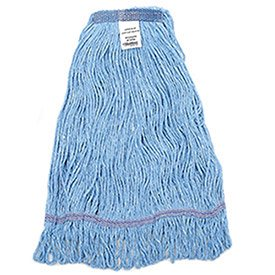 - Large Looped Mop Head, Narrow Band, Blue, Lot of 1
