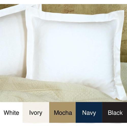 Poplin Tailored Cotton Blend Euro Sham Ivory