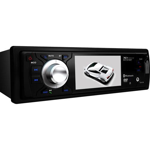 "XO Vision XO1916BT, 3"" Wide Screen DVD Receiver w/ Built-in Bluetooth"