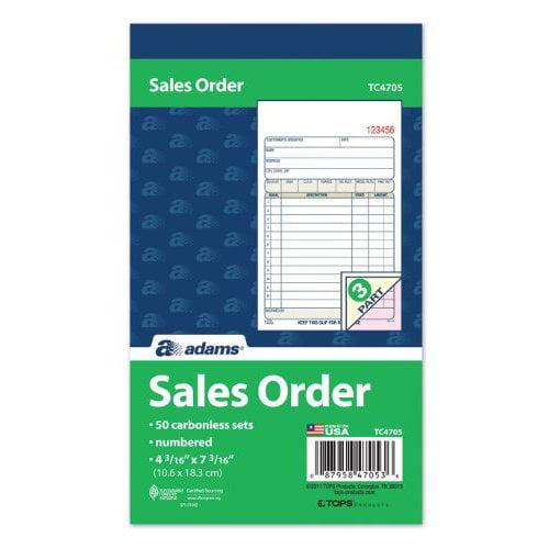 Adams 3-Part Carbonless Sales Order Book by LSC Communications US LLC
