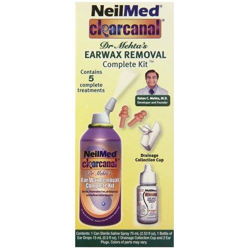 NeilMed Clearcanal Dr. Mehta???s Earwax Removal Complete Kit, 5 pc